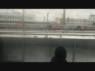 Прибытие ретро-поезда в Брянск
