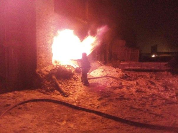 Цех лесопиления сгорел в Усть-Илимске