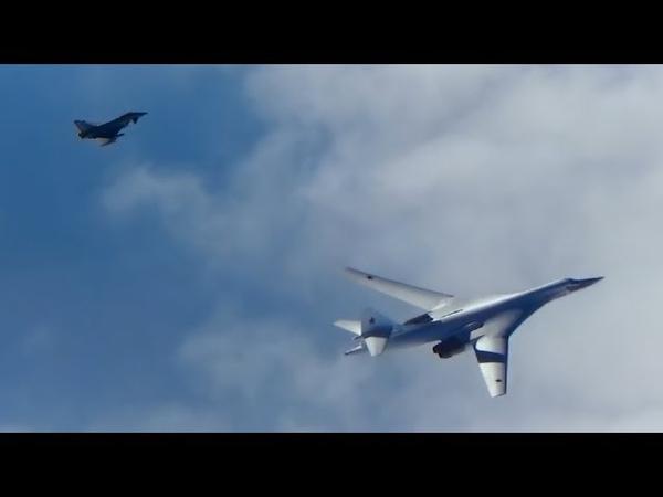 Tu-160 Ту-160 на боевой уходят от истребителей НАТО vk.com/kino_vks_vmf_ross Ту-160