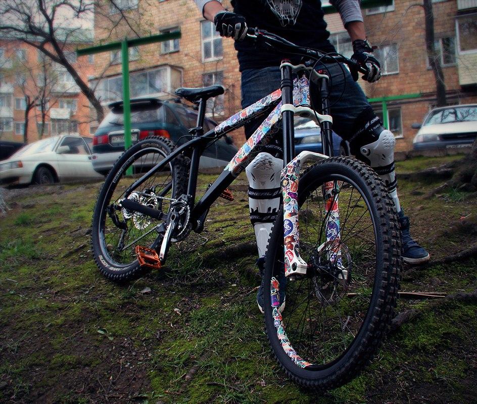 Оклейка велосипеда своими руками 46