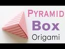 Pyramid Shape Origami Paper Gift Box - Origami Kawaii〔098〕