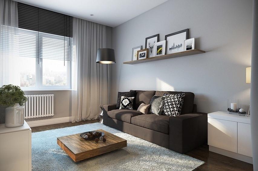Проект  однокомнатной квартиры — 32 кв.