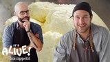 Brad and Babish Make Ricotta Cheese It's Alive Bon App