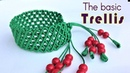 Macrame bracelet tutorial- The basic trellis pattern - Simple but pretty idea craft
