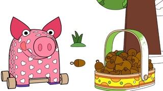 Раскраска - Деревяшки - Угощение - Учим цвета- развивающие мультики - выпуск 17
