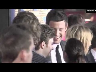 Cory and Lea at the Glee 3D Movie Premiere