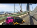 Михакер GTA 5 Online Смешные моменты перевод 85 - Ветряки на мосту и Автомобильное сумо