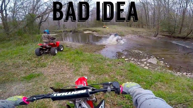 ALMOST SANK THE CR125 IN A CREEK!