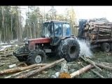 Belarus Mtz 1025, difficult work in the forest