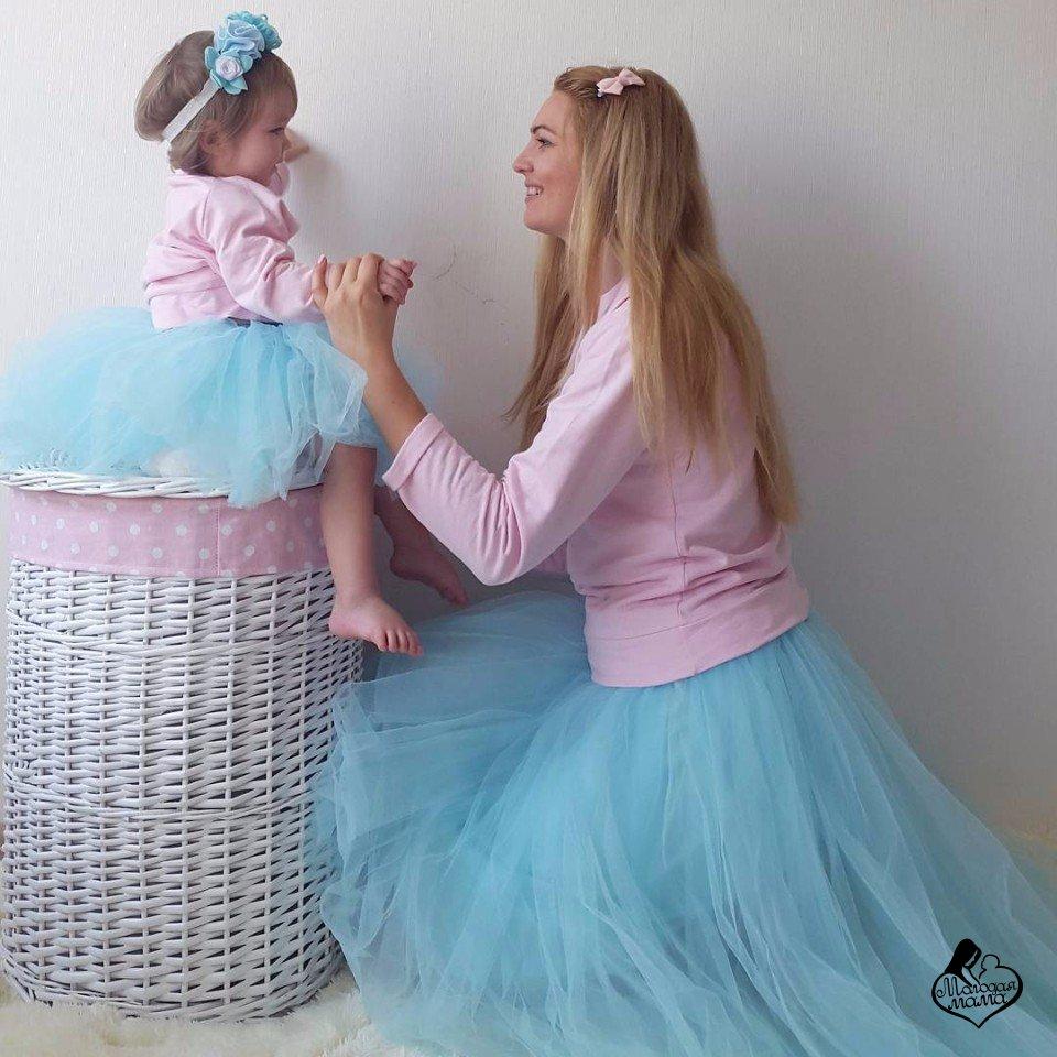 Фатиновая юбка для мамы и дочки своими руками