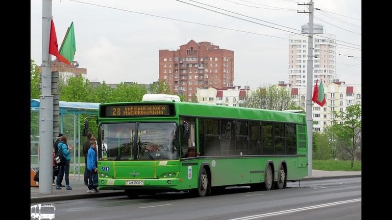 Автобус Минска МАЗ 107 468 гос № АН 0908 7 марш 28 17 06 2019