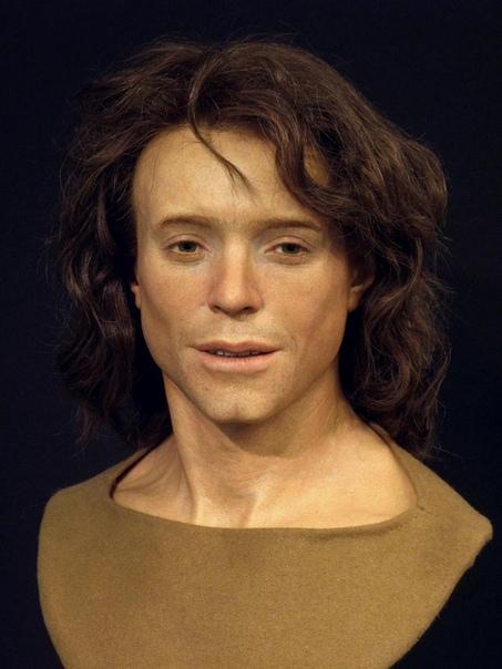 3D-модель лица древнего человека, который жил примерно в 700 году нашей эры.
