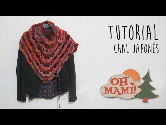 Chal Japonés tejido a crochet ( CROCHET SHAWL)