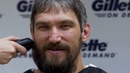 Alex Ovechkin partners with Gillette shaves his playoff beard after winning Stanley Cup