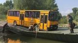 Ikarus 256 on the military pontoon bridge