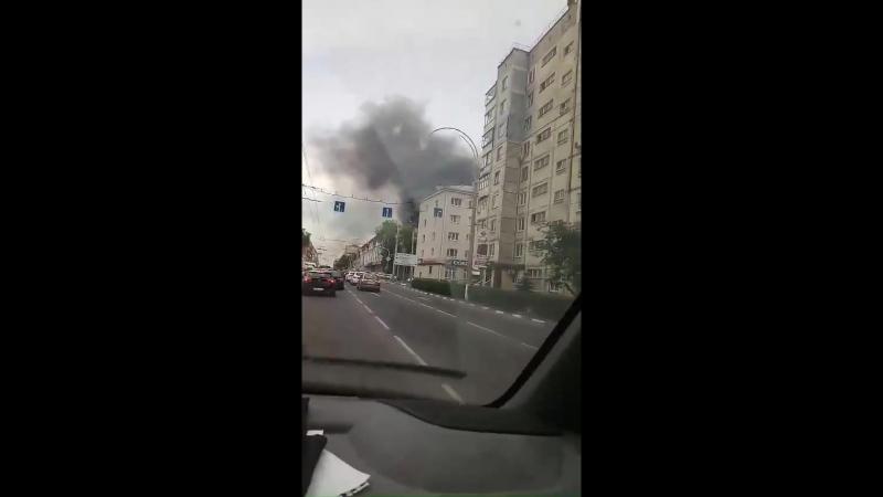 Пожар в центре Белгорода, 23.06.2018
