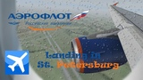 FSX HD   A320 Aeroflot   Landing in St. Petersburg   HD 1080p