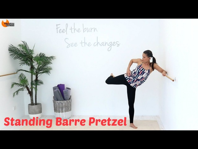 BALLET BARRE WORKOUT Outer Thighs - Barlates Standing Barre Pretzel with Linda Wooldridge