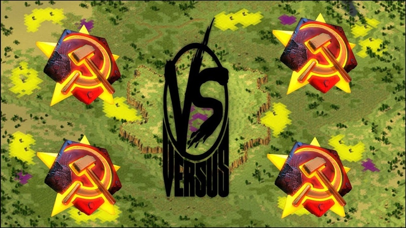 Red Alert 2 Yuri's Revenge - PRO 2 vs 2 Soviets vs Soviets Match on the map Divide Conquer