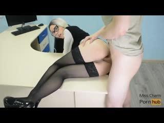 Miss charm - fuck me, boss! (2019) [amateur, anal, fetish, stockings, blowjob, creampie, handjob, chastity belt]