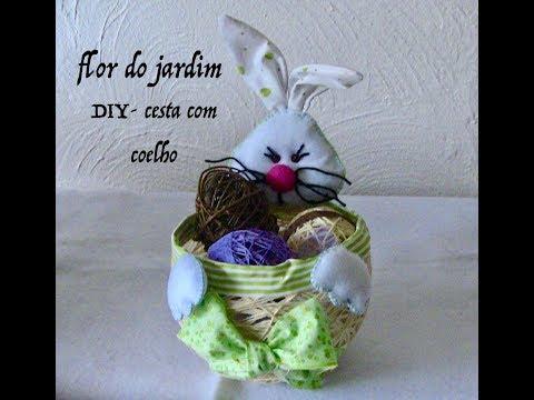 1° PARTE- Como fazer uma Cesta da Páscoa com coelho -Easter Bunny feltre