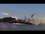 Яркие кадры боевых стрельб кораблей Балтийского флота