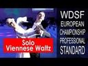 Final - Solo Viennese Waltz | 2018 WDSF PD European Championship