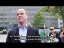 Miembro de Bilderberg 2014 habla con la gente en las protestas Diederik Samsom