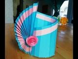 Бумажная ваза своими руками. Подарки и поделки из бумаги на 8 Марта
