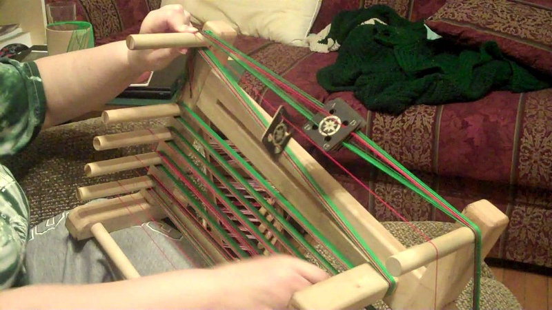 Warping a tablet weaving loom part 1