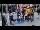 Legendary London street band Funfiction play 'Come Together' (The Beatles)