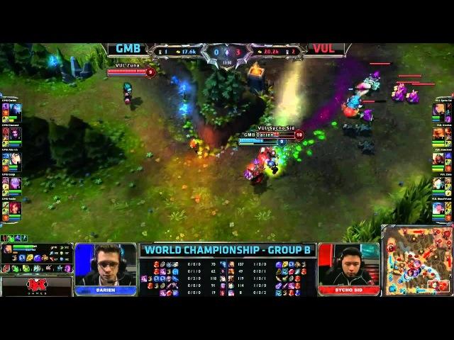 GMB vs VUL Gambit vs Vulcun Worlds 2013 Day 6 Group B Season 3 Championship S3 D6G4 VOD