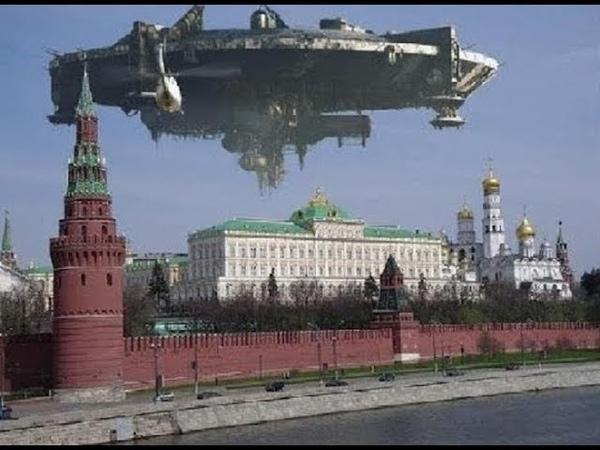 Никто не может найти объяснение происходящему.Портал невиданных размеров над Кремлем видели тысячи