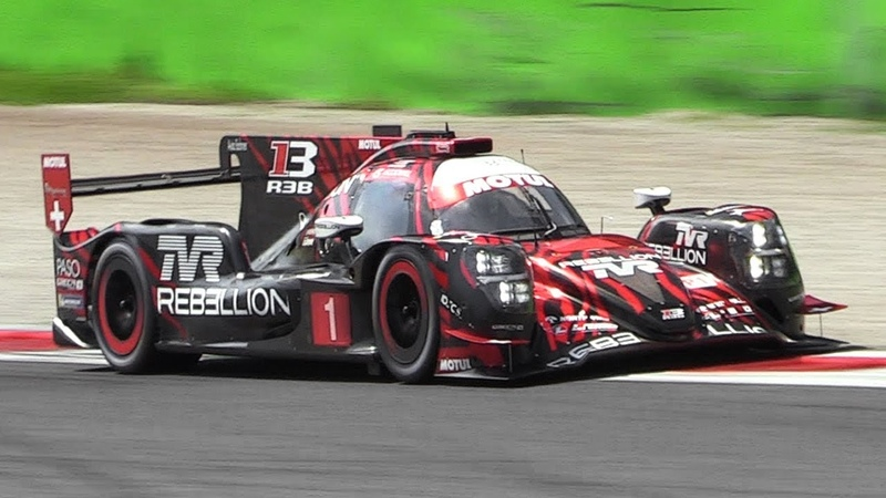 2018 Rebellion Oreca R-13 LMP1 Pure Sound on Track - Accelerations Fly Bys!
