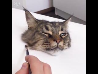 Нарисовал самого 3D-шного кота в мире