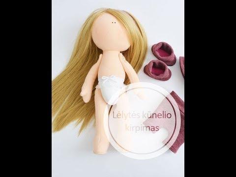 Nr 1 Kaip iškirpti lėlės kūnelį pritaikant iškarpas How to cut doll with patterns