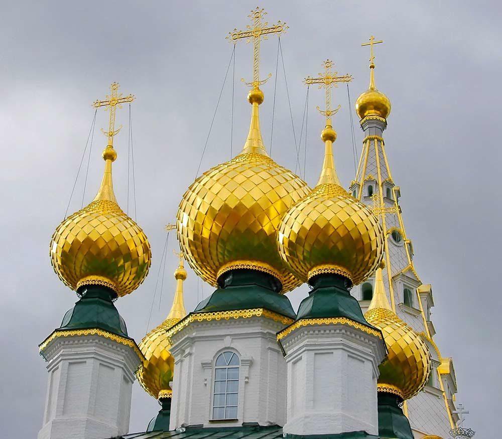 Картинка золотые купола россии