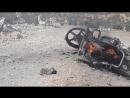 Последствия удара ракетой Калибр в Кафр Саджна Идлиб 22 сентября 2017