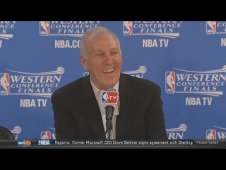 Gregg Popovich's Funny Exchange With Reporter | Thunder vs Spurs | Game 5 | NBA Playoffs 2014