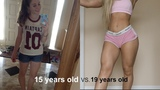 My Body Transformation | 15-19 Years Old Nastassia Ponomarenko