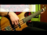 Gorillaz - Feel Good Inc. (Bass Cover) (Play Along Tabs In Video)