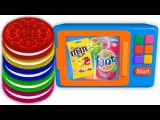 Learning Colors With Oreo Cookies For Children  Learn Colors With Microwave Learning Video For Kids