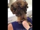 Объёмные локоны на среднюю длину волос