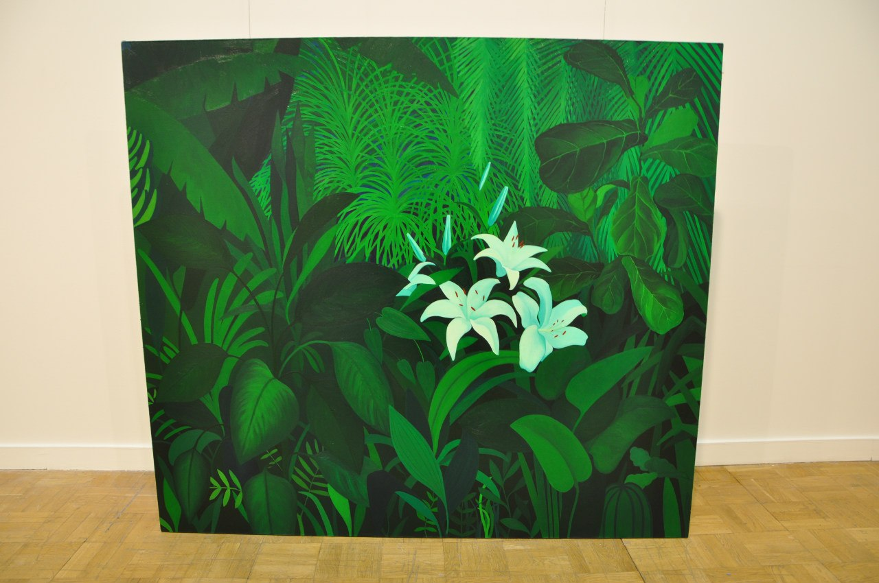 Союз художников Латвии  Лаура Озола (р. 1981)  Белая лилия джунглей. 2012  Холст, масло