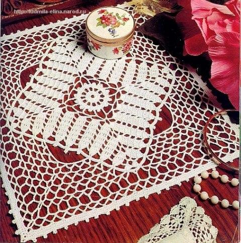 Delicadezas en crochet Gabriela: Carpeta cuadrada en ganchillo