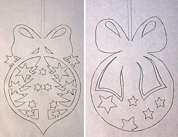 Как сделать на новый год украшения на окна из бумаги