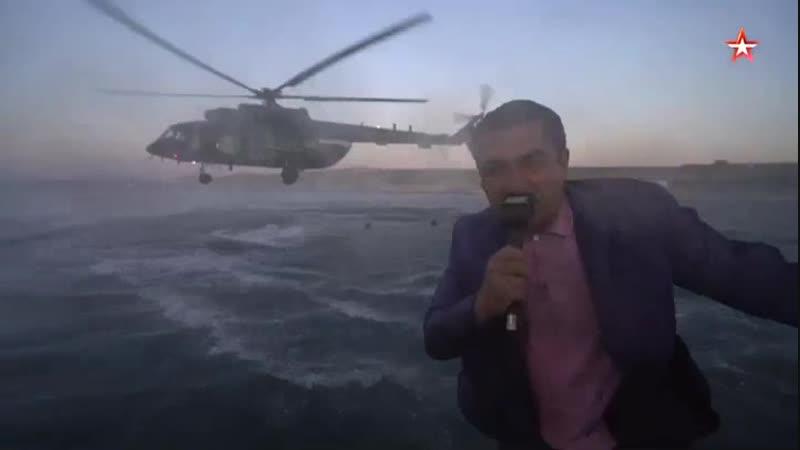 Выброска боевых пловцов из вертолета уникальные кадры ФСБ