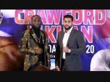 Теренс Кроуфорд и Амир Хан на первой пресс-конференции
