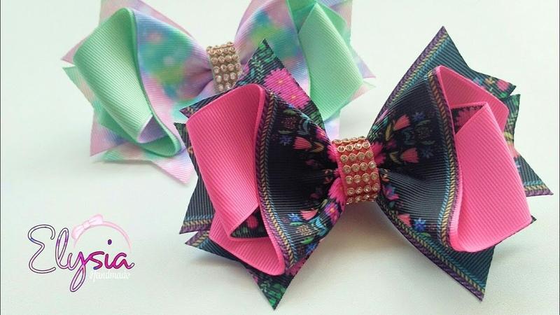 Laço Brielle 🎀 Ribbon Bow Tutorial 🎀 DIY by Elysia Handmade