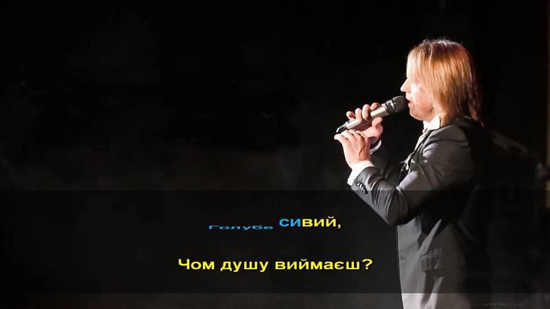 Голубе сивий Олег Винник Караоке